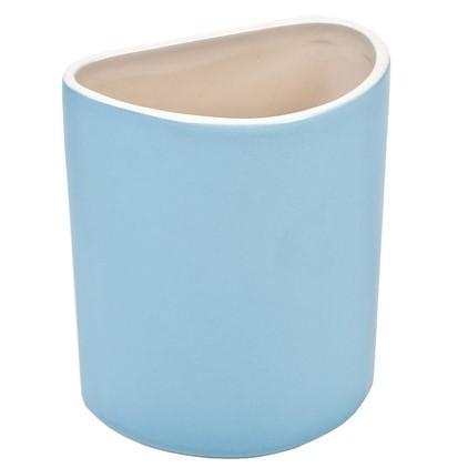 Vase Deko Tisch Modern blau pastell Pusteblume Porzellan 18 cm